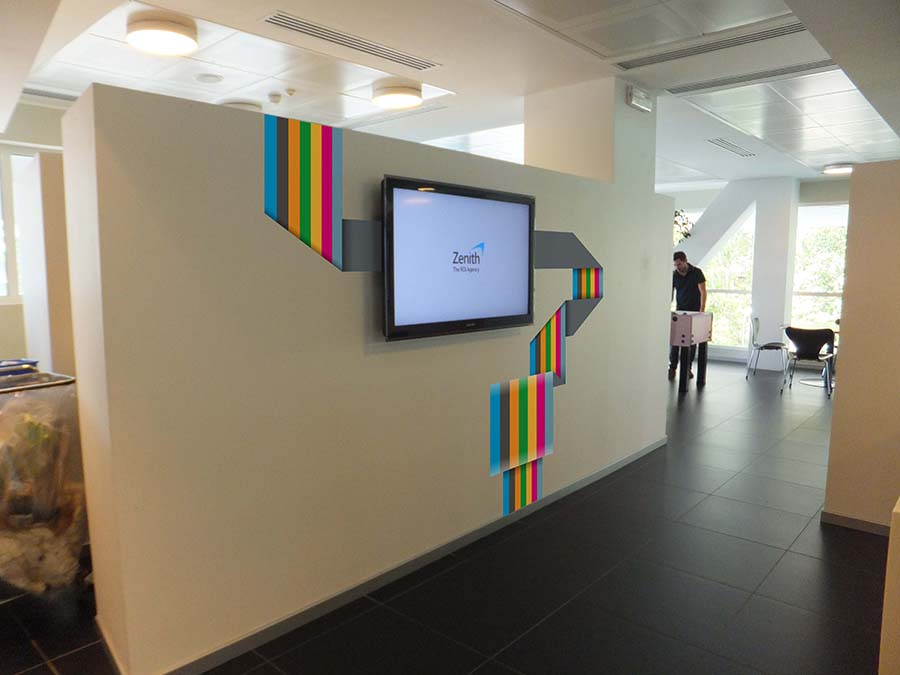 Reception parete plasma